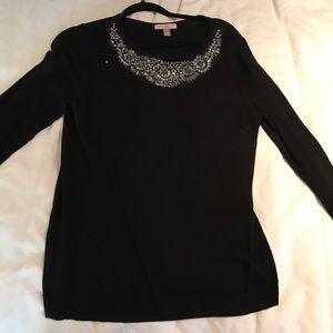 Bling black sweater medium